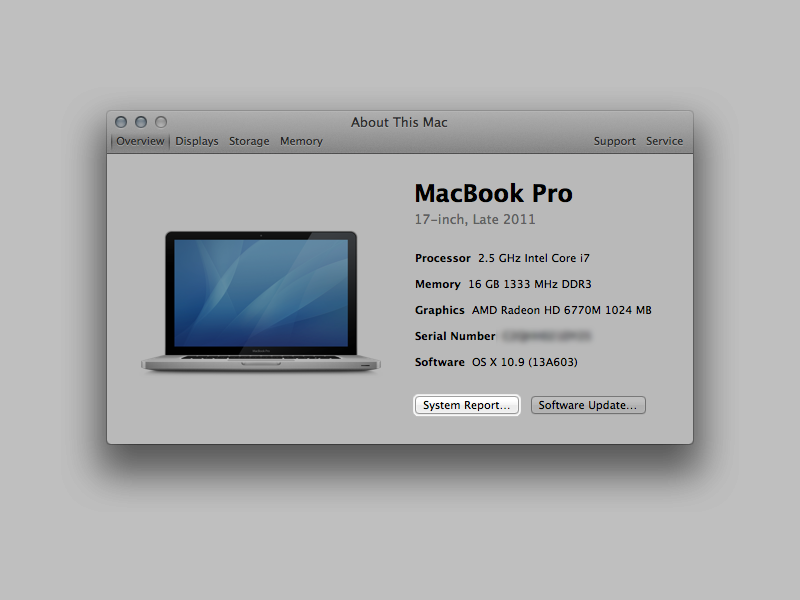 macbook pro retina display serial number